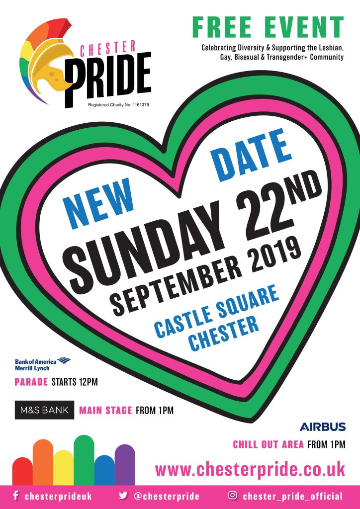 Chester Pride line-up poster