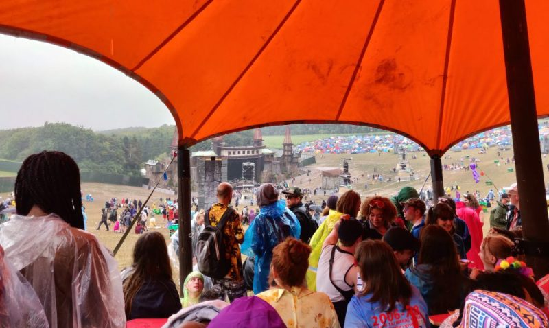 Boomtown Lions Den shelter from rain 2018