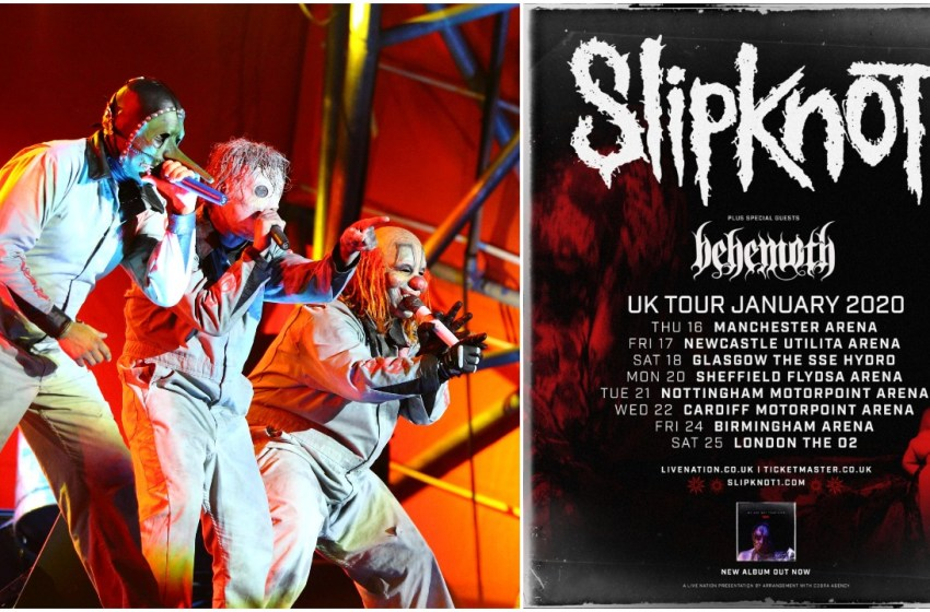 Slipknot announce January 2020 arena tour in eight British cities