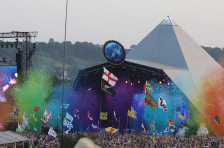 Glastonbury Pyramid Stage rainbow