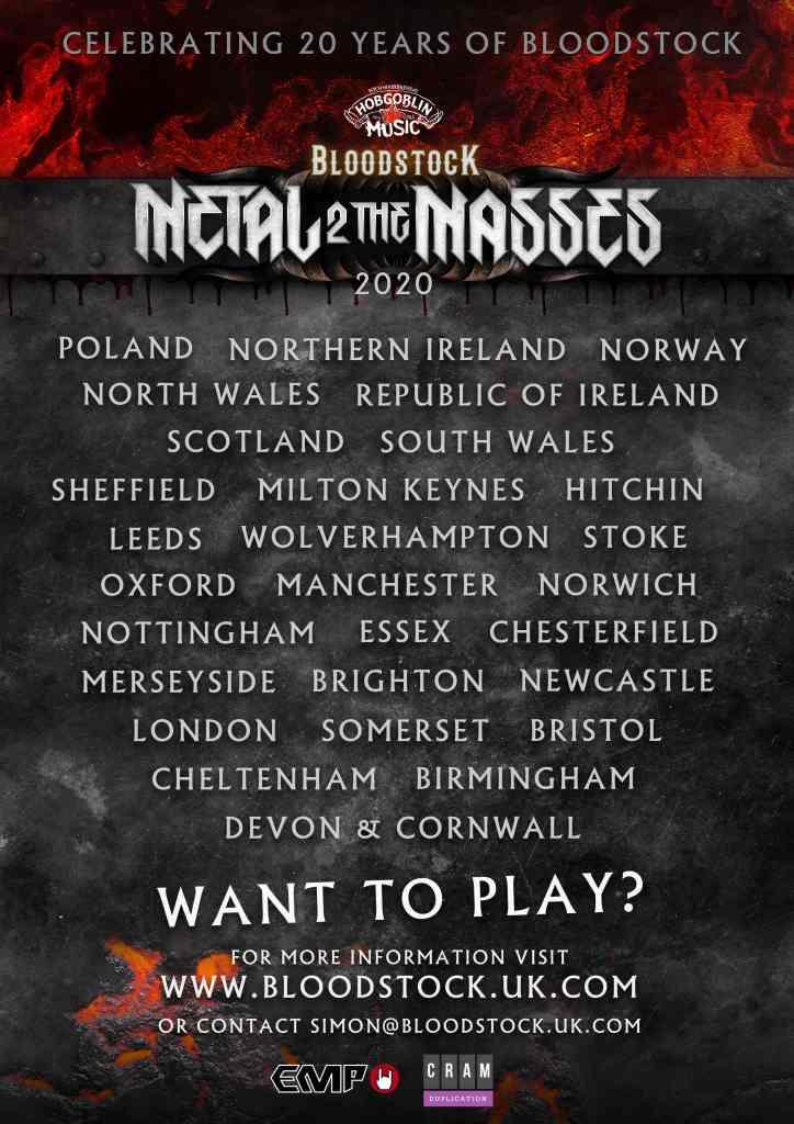 Bloodstock 2020 Metal 2 The Masses Poster