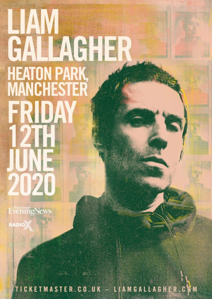 Liam Gallagher Heaton Park 2020 poster