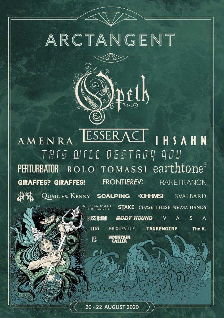 ArcTanGent Festival 2020 Line-up Poster