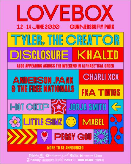 Lovebox 2020 line-up poster