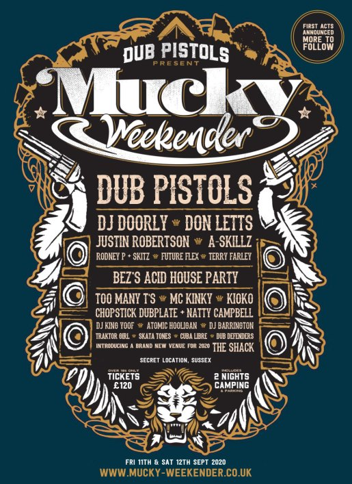 Mucky Weekender 2020 line-up poster