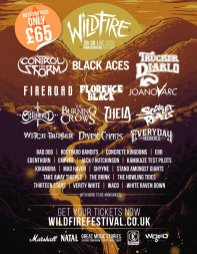 Wildfire Festival 2020 line-up poster