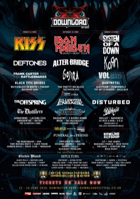 Download Festival 2020 Line-up Poster 3rd edition
