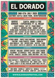 El Dorado 2020 line-up poster