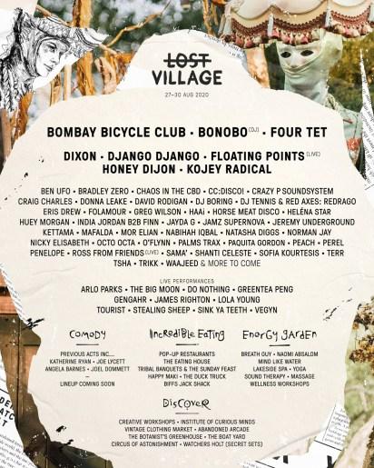 Lost Village 2020 line-up poster