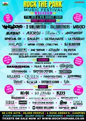 Rock The Park Wrexham line-up poster 2020
