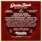 Shindig 2020 Ghetto Funk Nightclub line-up poster