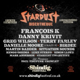 Shindig 2020 Stardust Discotheque line-up poster