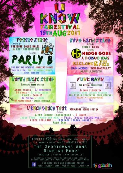 U Know Fairestival 2017 line-up poster