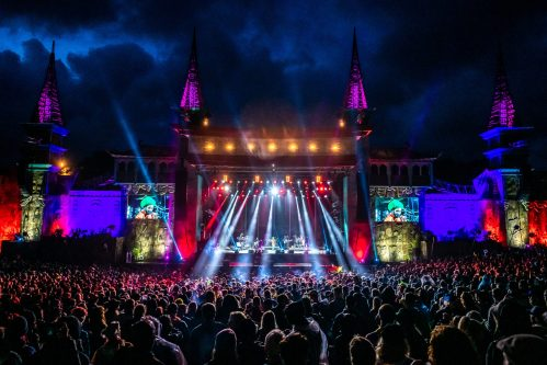Boomtown Lions Den stage at night