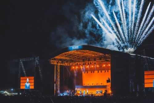 Victorious Festival main stage fireworks
