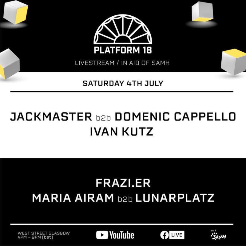 Platform 18 livestream line-up poster