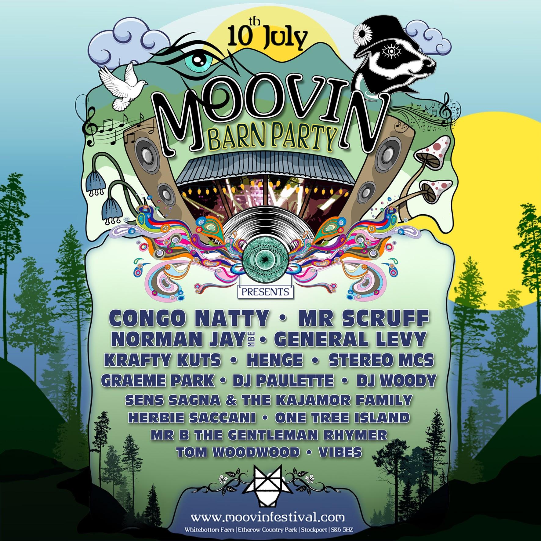 Moovin Festival announce 12-hour barn party with Congo Natty & Mr Scruff