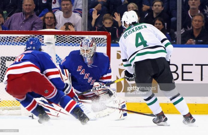 Stars Hold on to Beat Rangers in Overtime