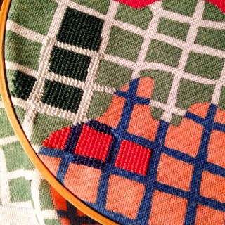 Toklas Needlepoint WIP Petit Point Embroidery Hoop