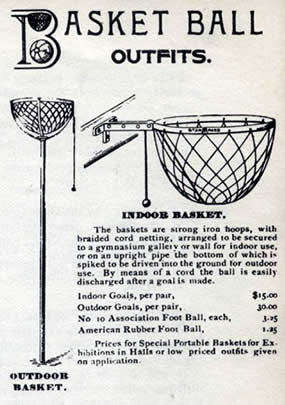 Basket Ball Cord Basket 1893