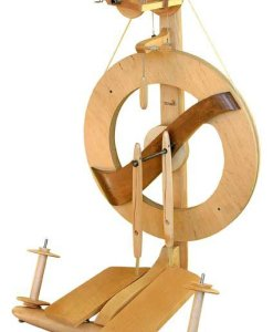 Kromski Fantasia Spinning Wheel Clear with Walnut Accent