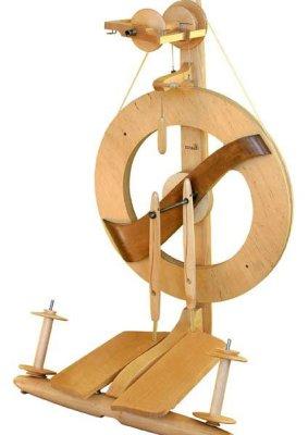 Kromski Fantasia Spinning Wheel Clear with Walnut Accent