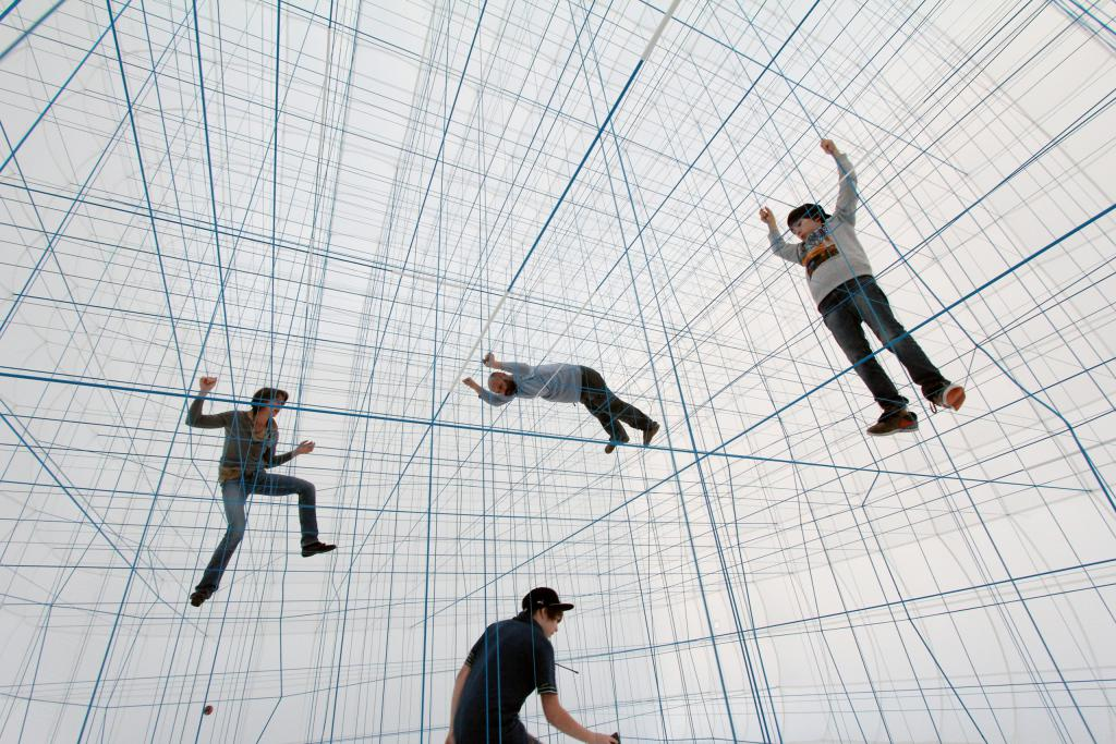 Inflatable Climbing Frame Installation by Numen / For Use