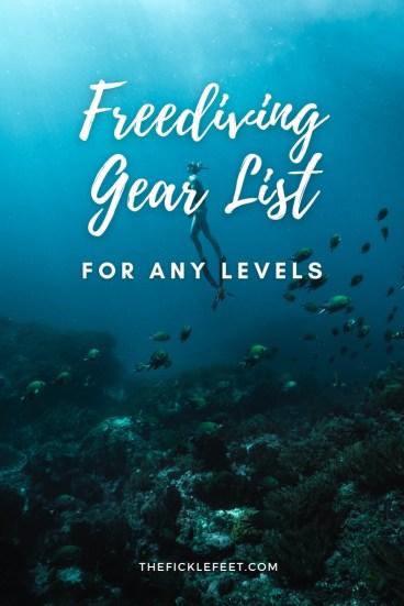 freediving gears