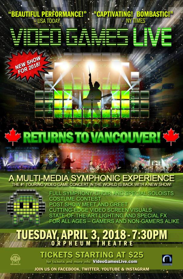Video Games Live - Vancouver 2018