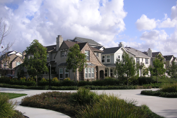 Ladera Ranch in Orange County California provides a mix of densities and a beautiful pedestrian corridor; however, it remains a pedestrian desert.