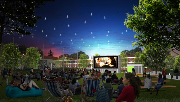 The Curtin Outdoor Cinema is the first 'quick win' to attract the community to the campus and to capitalize on the night economy.image: PLACE Laboratory