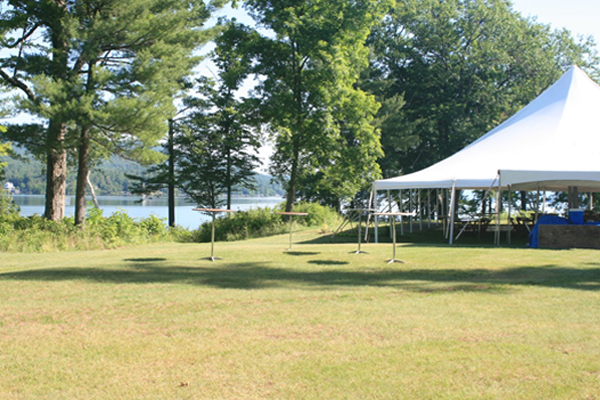 The Great Lawn with temporary tent set up  image: Lisa Tonneson-McCorkell