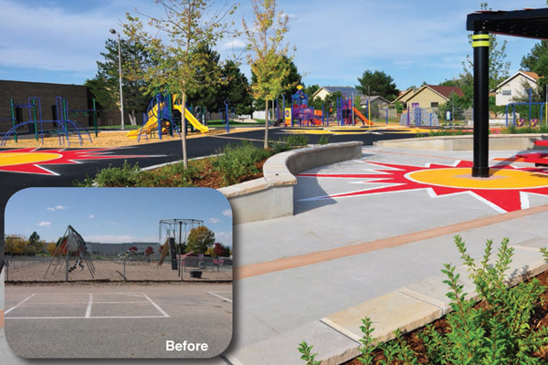 McGlone Elementary, before and after image: Colorado University Graduate Student & Lois Brink