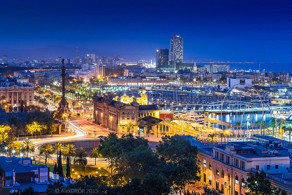 Barcelona skyline from the Montjuic viewpoint image: Alex DROP via Flickr