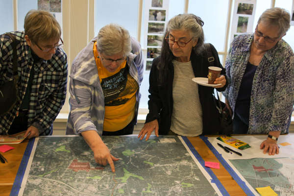 Mapping equity issues with greenway use and access image: Libbie Weimer