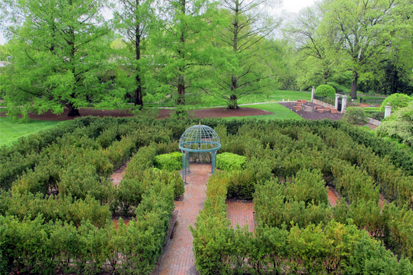 Encourage children to navigate through a shrubbery maze. image: Amy Wagenfeld