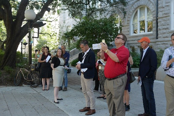 PPN members enjoy a tour of the Tulane University Uptown campus image: Laura Tenny