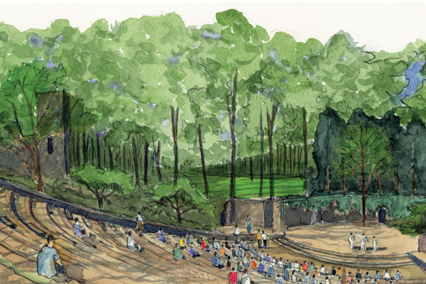 The Dignity of Restraint: A Historic Landscape Preservation Study for the University of North Carolina, Hoerr Schaudt Landscape Architects, 2011 Professional ASLA Honor Award, Analysis and Planning Category image: Hoerr Schaudt Landscape Architects