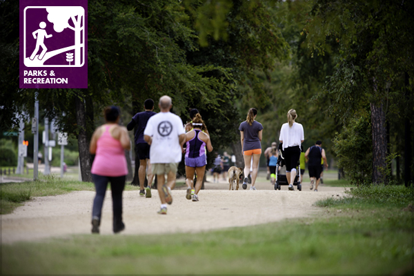 Memorial Park is one of Houston's most popular walking/jogging destinations. / image: Memorial Park Conservancy