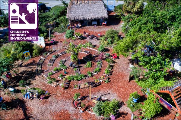 Aerial view of the children's garden
