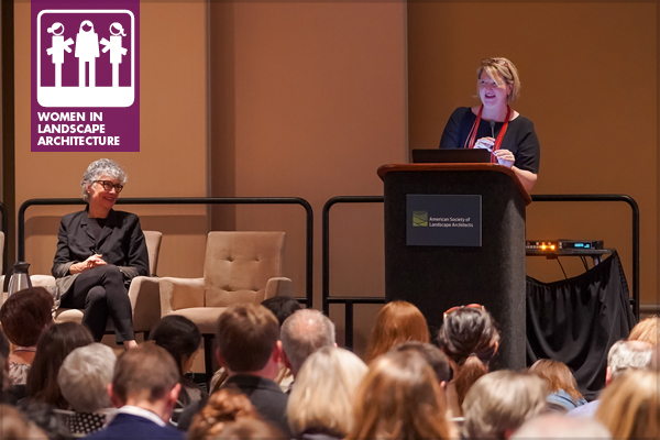 Gina Ford, FASLA, presenting during the 2018 ASLA annual meeting