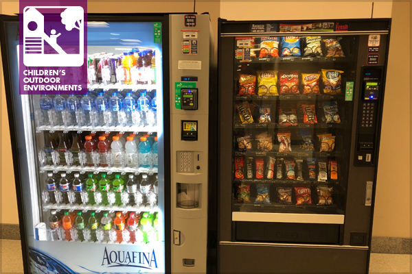 A typical vending machine station
