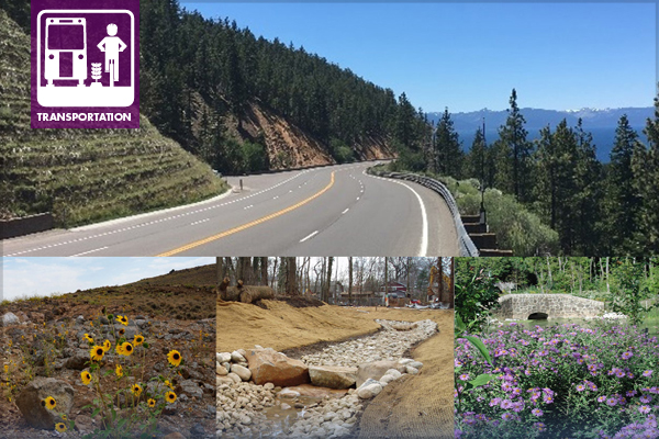 cover images from the Leading Landscape Design Practices For Cost-Effective Roadside Water Management / images: Nevada Department of Transportation, New York City Department of Environmental Protection report