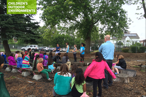 Hough Elementary School's outdoor classroom