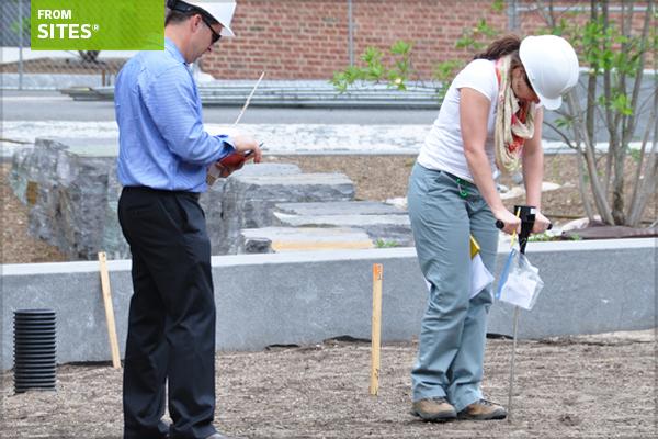 Soil penetrometer field demonstration