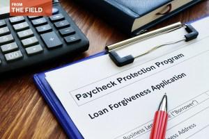 Stock photo of loan application on clipboard