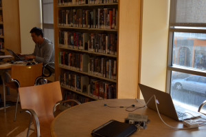 by Steve Rhodes; Science Fiction section of Glen Park Library where Ross Ulbricht aka Dread Pirate Robert arrested allegedly for running the Silk Road website