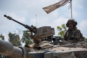IDF operating near the Gaza border. Photo: IDF