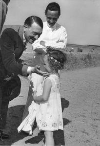 """Bundesarchiv Bild 183-2004-1202-500, Adolf Hitler, Joseph Goebbels, Tochter"" by Bundesarchiv, Bild"