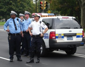 Philly Cops by SUV. The Officers pictured are not implicated. Image source: Zuzu